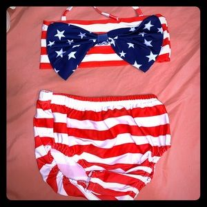 Other - Brand new 6T American flag toddler girl bikini